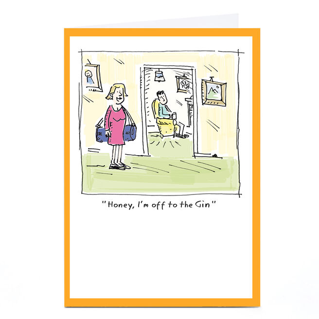 Personalised Vicar Of Scribbly Card - Off To The Gin