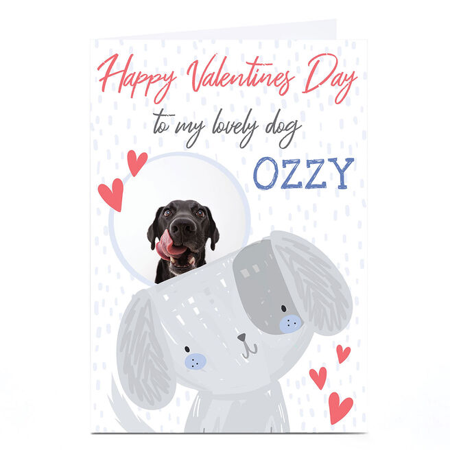 Photo Juniper & Rose Valentine's Day Card - To The Dog, Blue