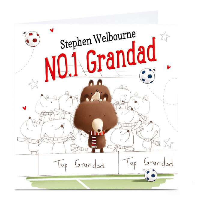 Personalised Card - NO1 Football Grandad