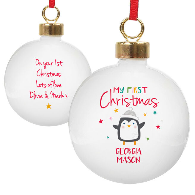 Personalised Bauble - My First Christmas