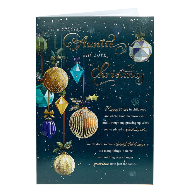 Christmas Card - Special Auntie With Love