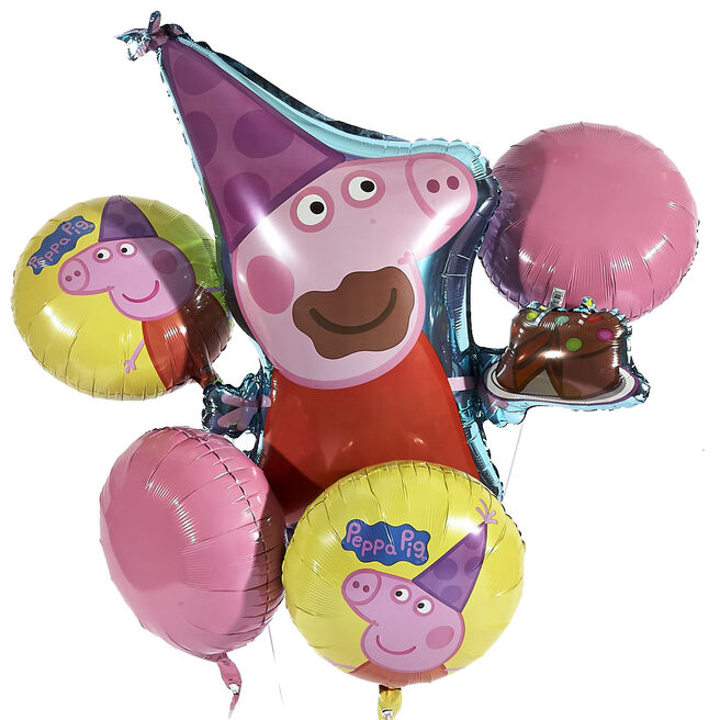 Peppa Pig Foil Balloon Bouquet (Deflated)