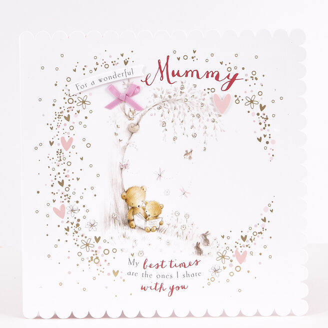 Exquisite Collection Birthday Card - Mummy Bears