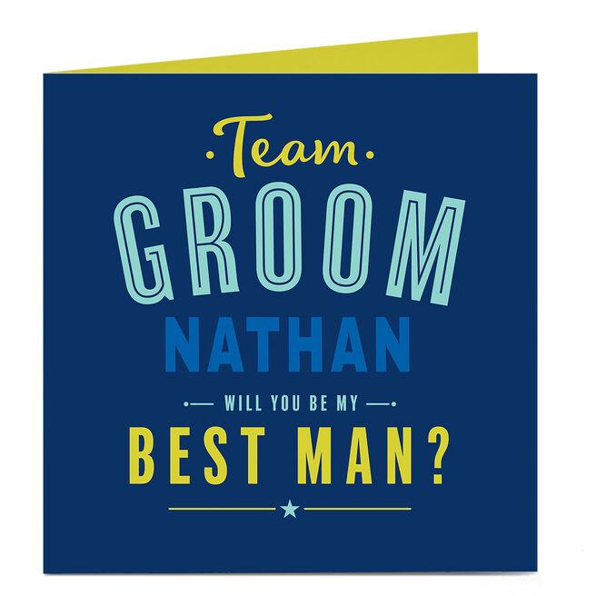 Personalised Wedding Card - Team Groom