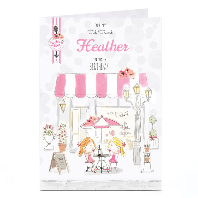 Personalised Card - Pink Cafe