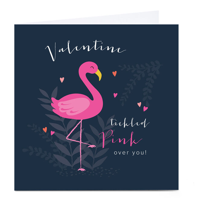 Personalised Klara Hawkins Valentine's Day Card - Tickled Pink