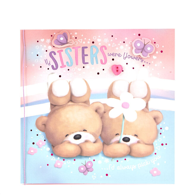 Boutique Collection Hugs Bear Birthday Card - Sisters