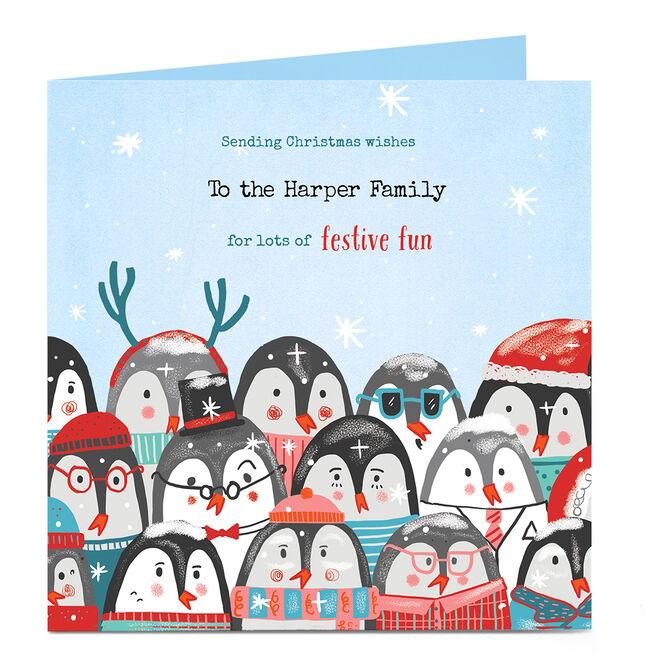 Personalised Christmas Card - Sending Christmas Wishes