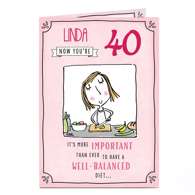 Personalised Birthday Card - Well-Balanced Diet, Any Age