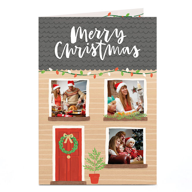 Multi Photo Christmas Card - House Front