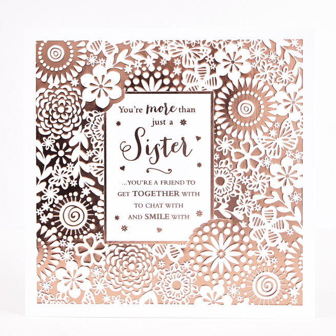Boutique Collection Birthday Card - Sister Keepsake