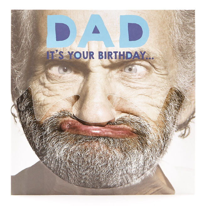 VIP Collection Birthday Card - Dad Funny Face Mask