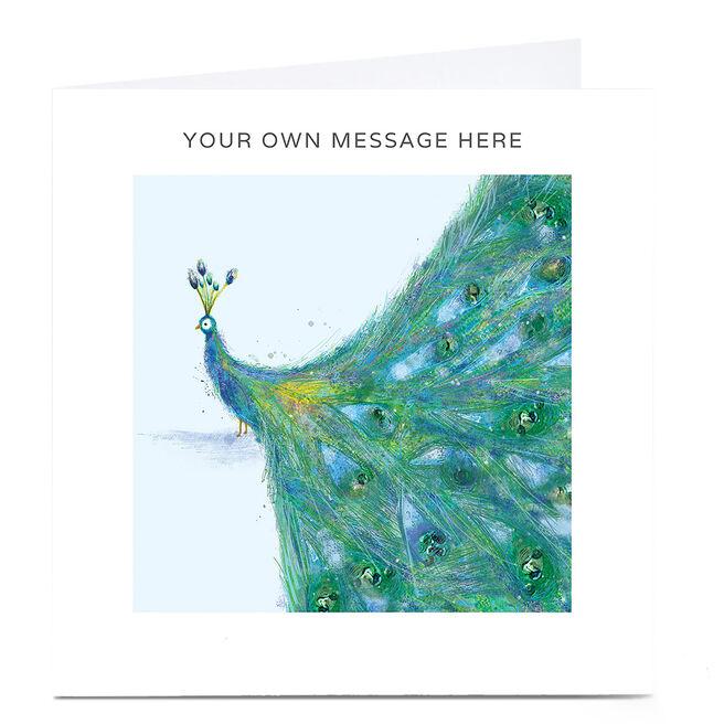 Personalised Card - Peacock
