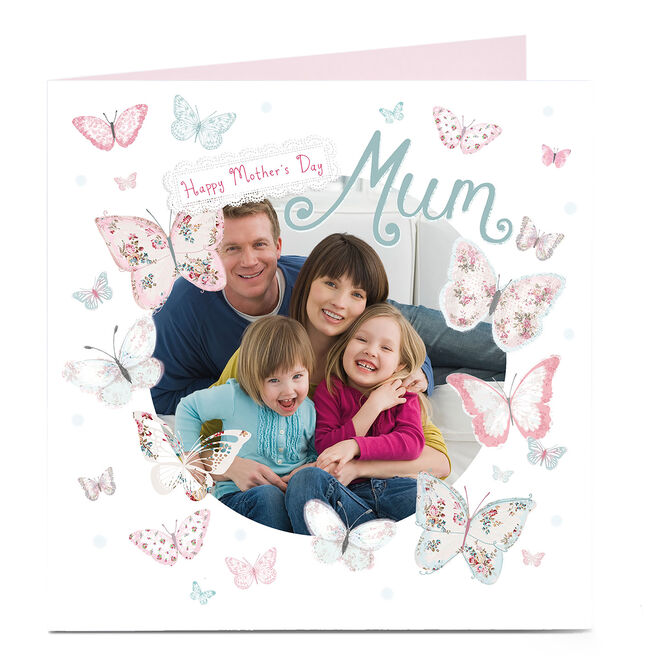 Photo Upload Mother's Day Card - Butterfly Mum