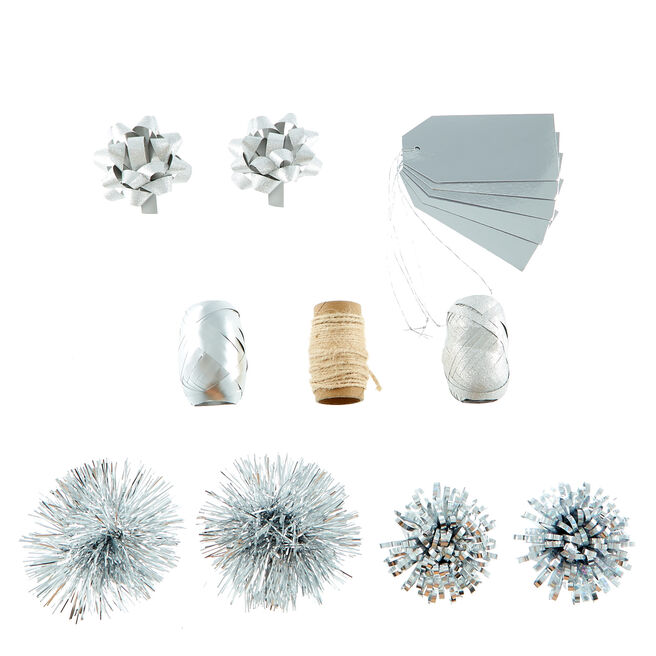 Christmas Wrap Accessory Pack - Silver