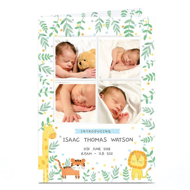 Photo New Baby Card - Jungle Animals
