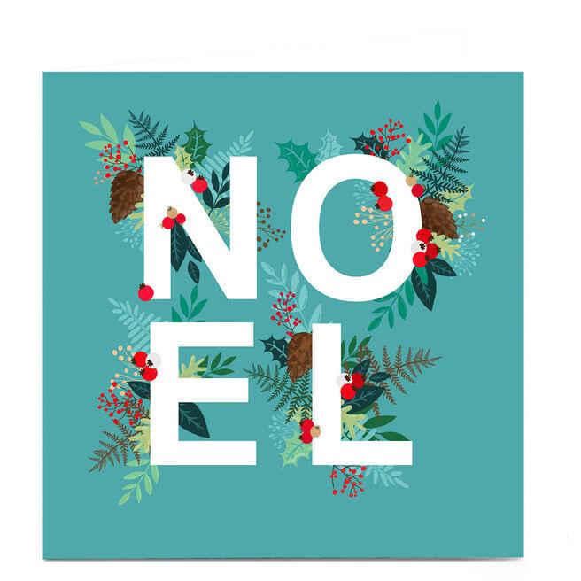 Personalised Christmas Card - NOEL