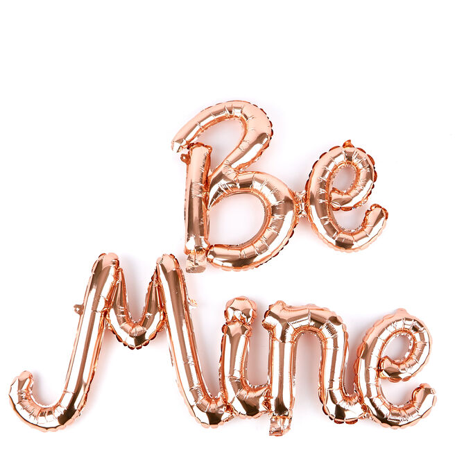 Be Mine Air-Filled Balloon Banner