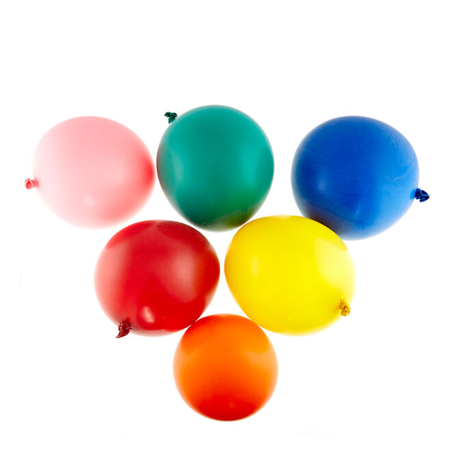 Pack of 6 Helium-Quality 36-Inch Latex Balloons - Assorted Colours