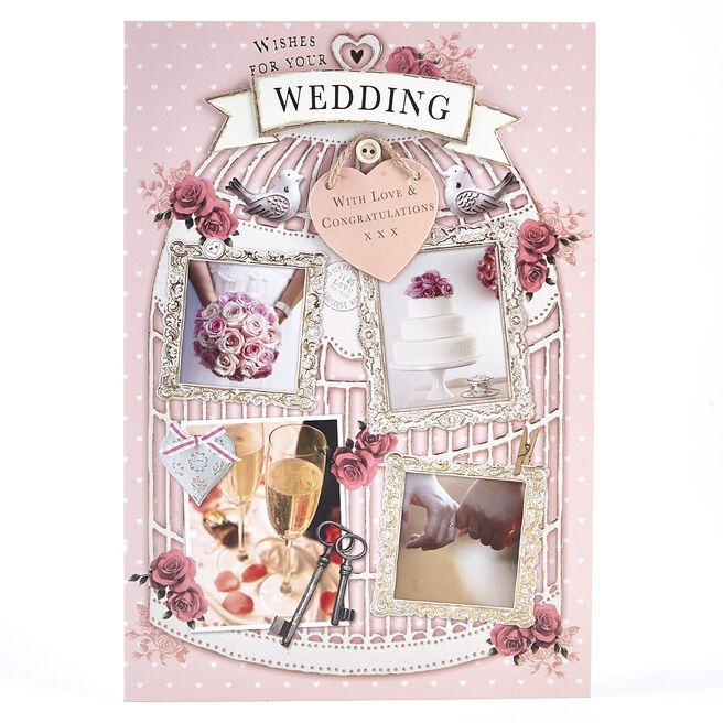 Wedding Card - Bird Cage