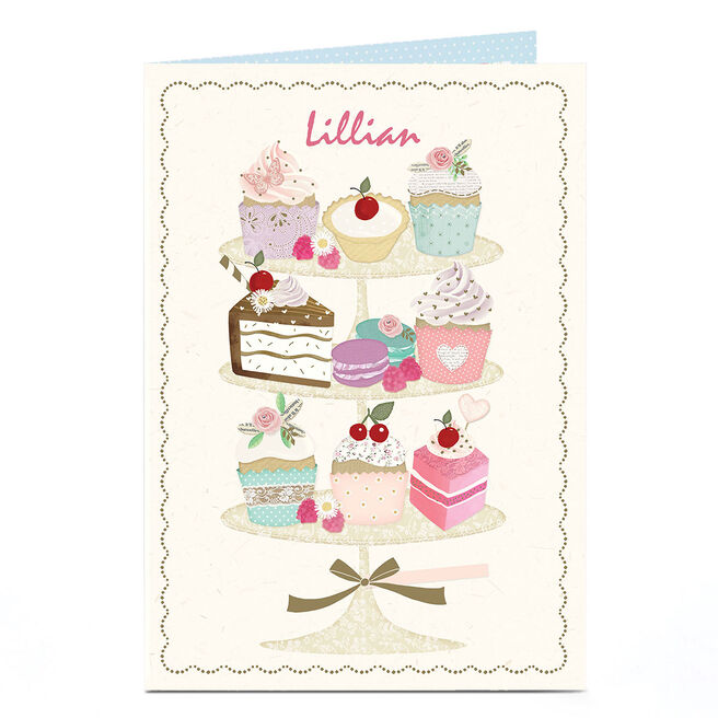 Personalised Card - Cake Stand