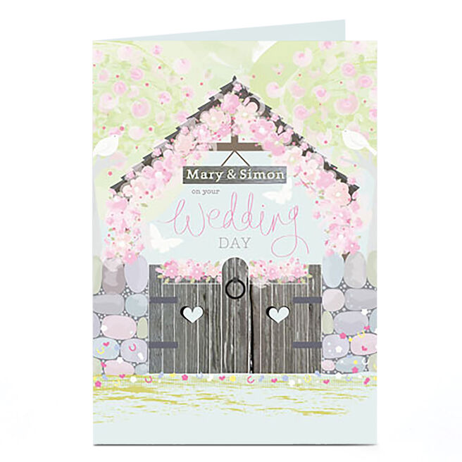 Personalised Wedding Day Card - Church Front