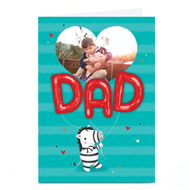 Photo Dad Any Occasion Card - Dad, Zebra