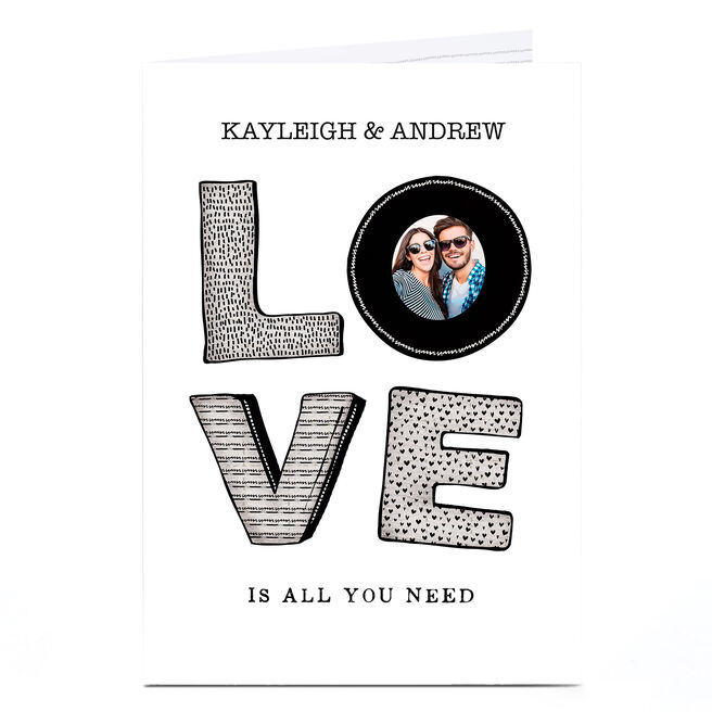 Photo Anniversary Card - Love Is All You Need