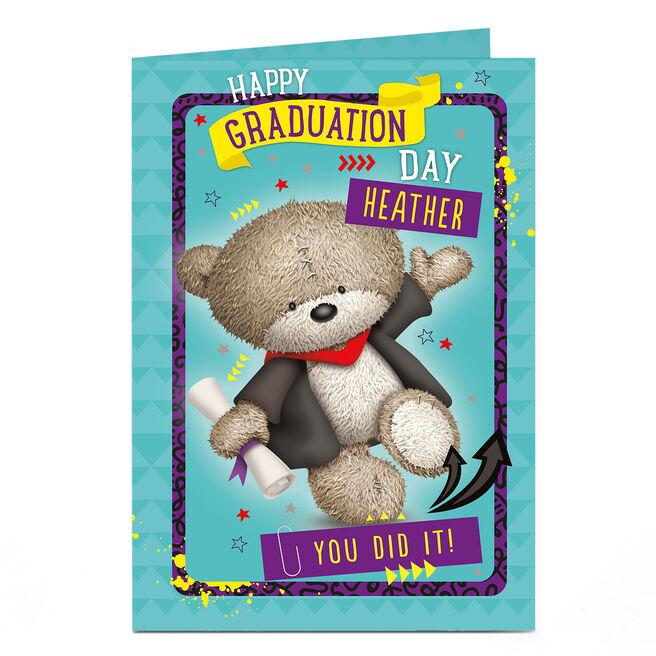 Personalised Hugs Card - Happy Graduation Day!