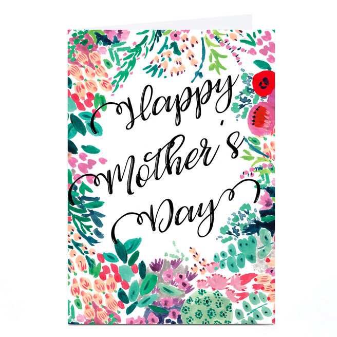 Personalised Rebecca Prinn Mother's Day Card - Happy Mother's Day