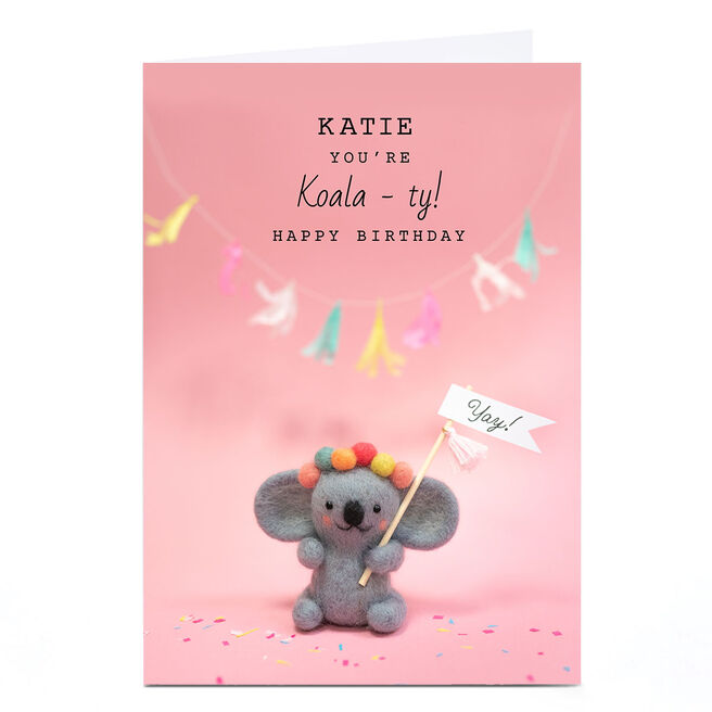 Personalised Lemon and Sugar Birthday Card - Koala