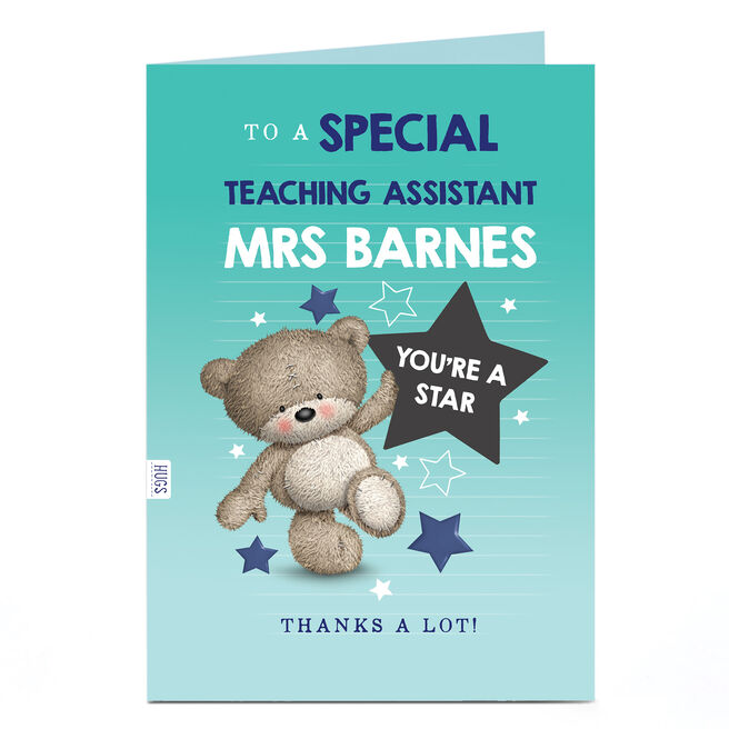 Personalised Thank You Teaching Assistant Card - You're A Star