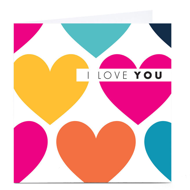 Personalised Hello Munki Card - I Love You