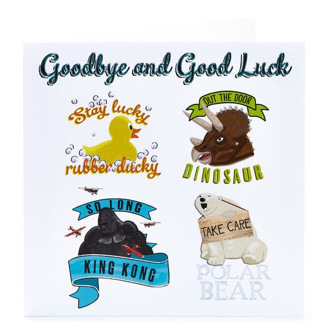 Leaving Card - Stay Lucky Rubber Ducky