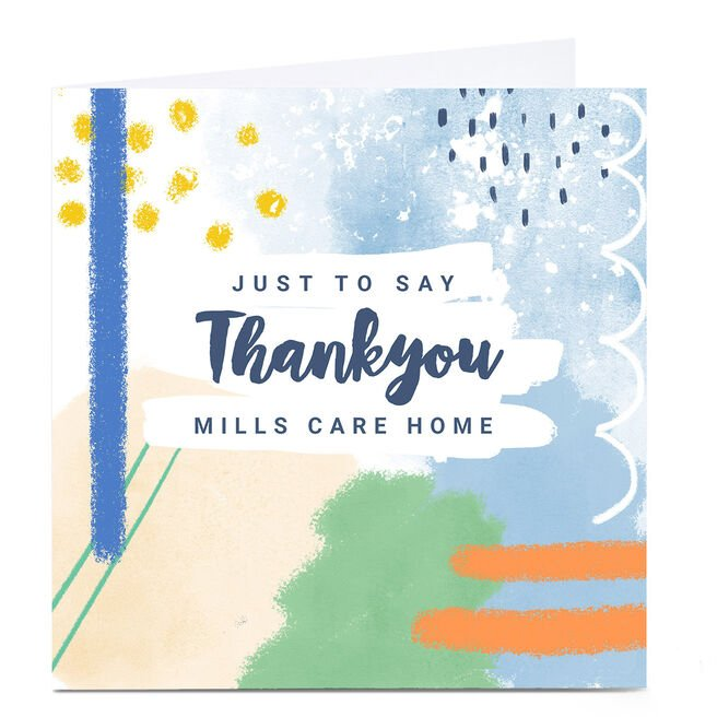 Personalised Little Mono Thank You Card - Just To Say