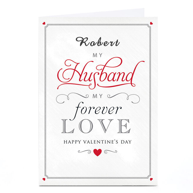 Personalised Valentine's Card - Husband Forever