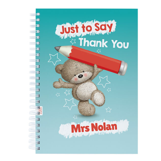 Personalised Thank You Teacher Notebook - Hugs, Just To Say