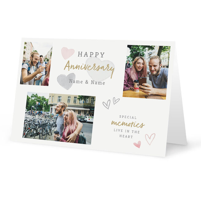 Photo Upload Anniversary Card - Special Memories Any Names