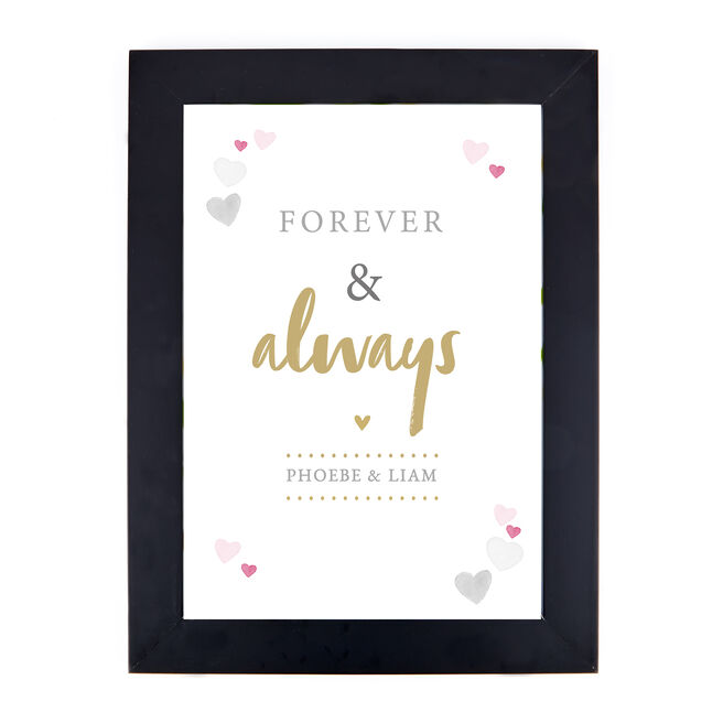 Personalised Print - Forever & Always