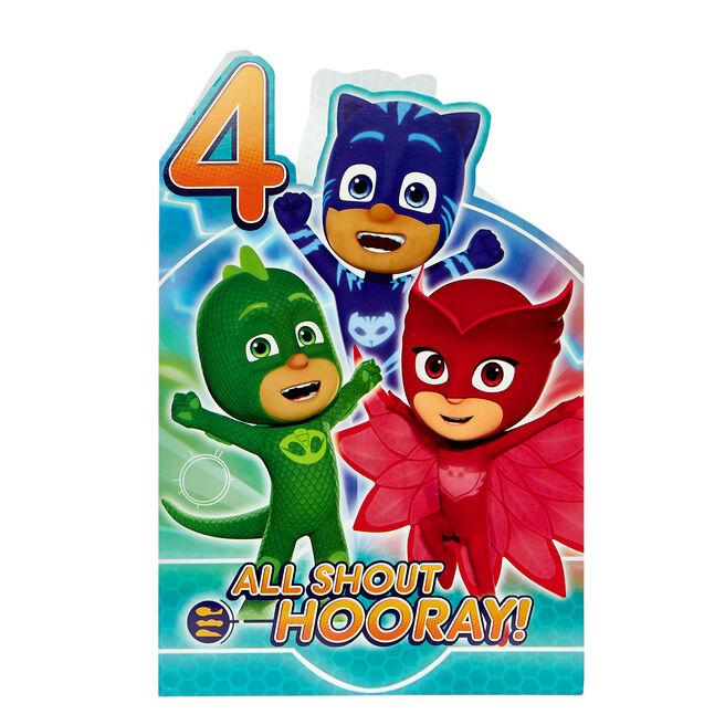 PJ Masks 4th Birthday Card