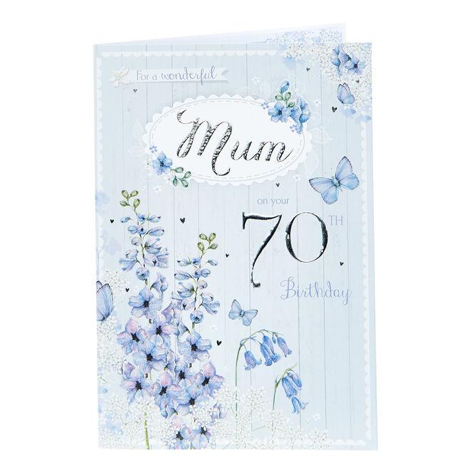 70th Birthday Card - For A Wonderful Mum