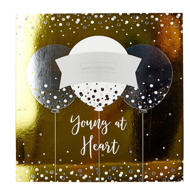 Exquisite Collection Birthday Card - Young At Heart, 90 or 100