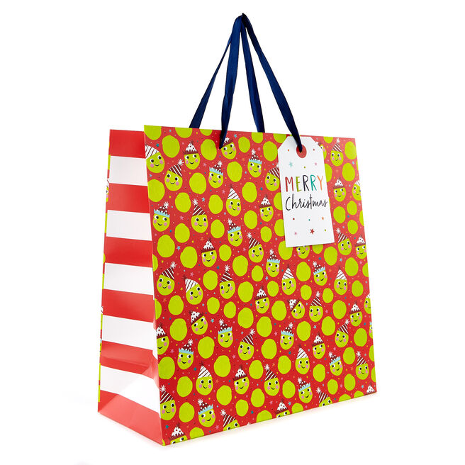 Extra Large Square Sprouts Christmas Gift Bag