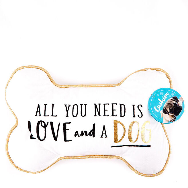Pawsome Pals - Dog Bone Quote Cushion