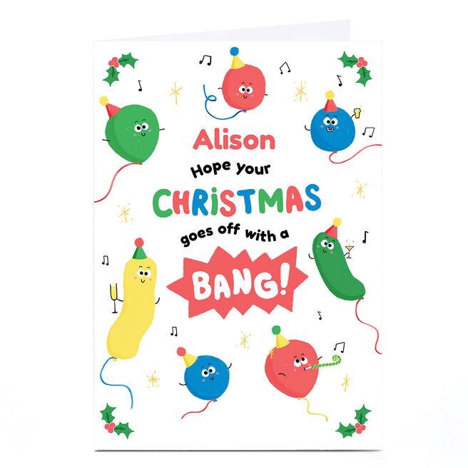 Personalised Christmas Card - Bang