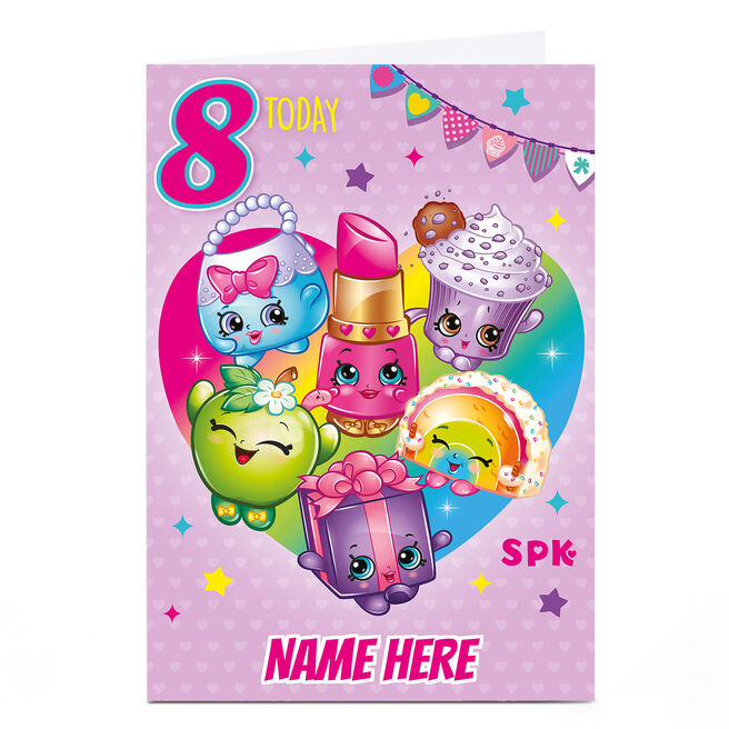 Personalised Shopkins Card - 8 Today