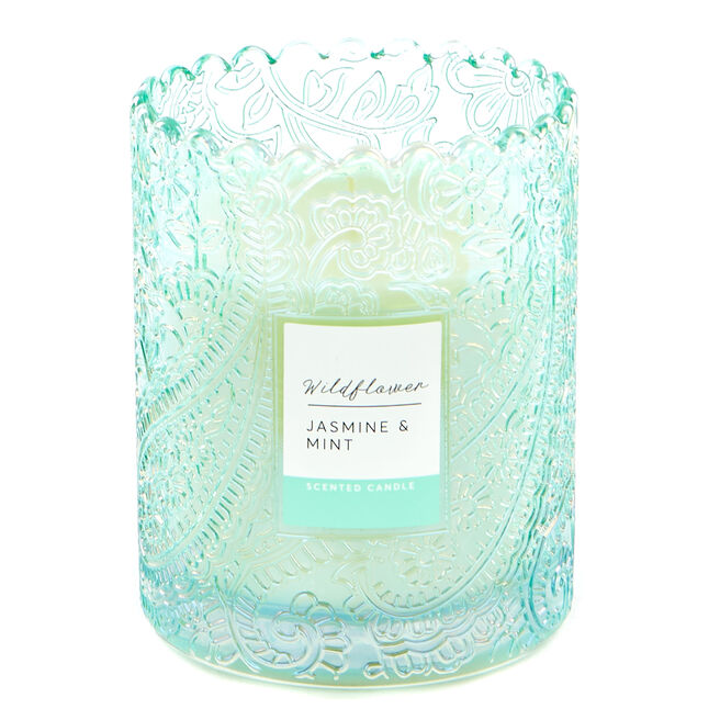 Wildflower Jasmine & Mint Scented Candle