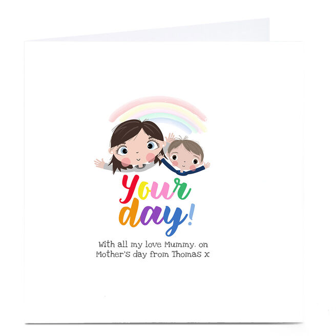Personalised Rachel Griffin Mother's Day Card - Mummy from Son