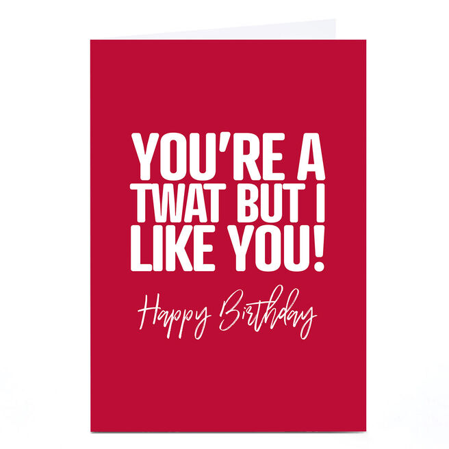 Personalised Punk Birthday Card - You're A Twat