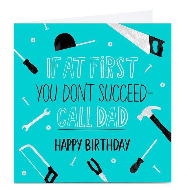 Photo Birthday Card - Call Dad
